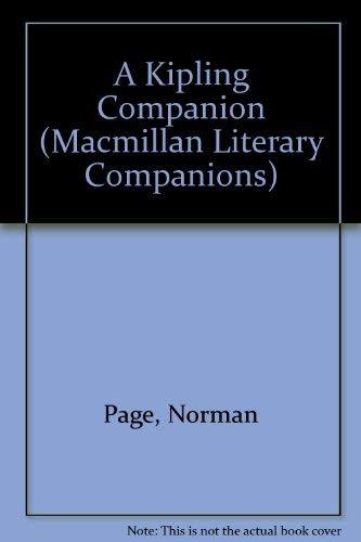 9780029196601: A Kipling Companion (Macmillan Literary Companions)