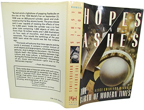 9780029202500: Hopes and Ashes: Birth of Modern Times, 1929-39
