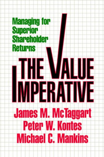 9780029206706: Value Imperative: Managing for Superior Shareholder Returns