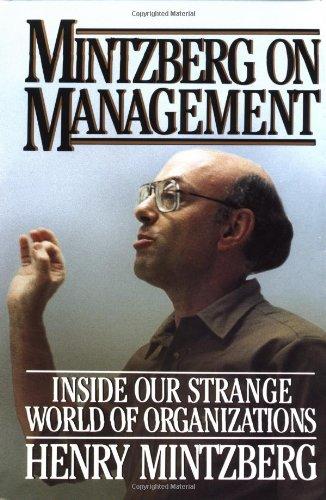 9780029213711: Mintzberg on Management