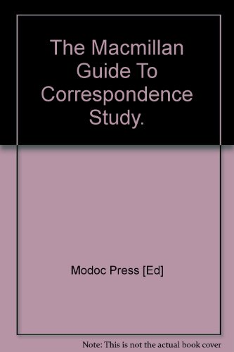 9780029216101: The Macmillan Guide To Correspondence Study.