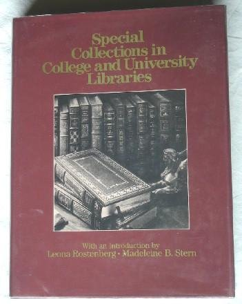 9780029216514: Special Collections in College and University Libraries