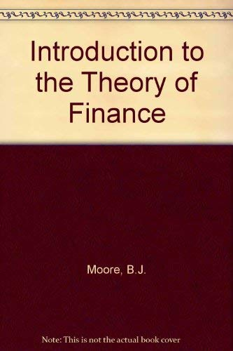 9780029219508: Introduction to the Theory of Finance, an.