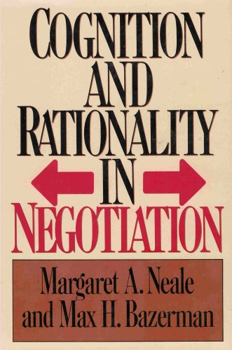 9780029225158: Cognition and Rationality in Negotiation