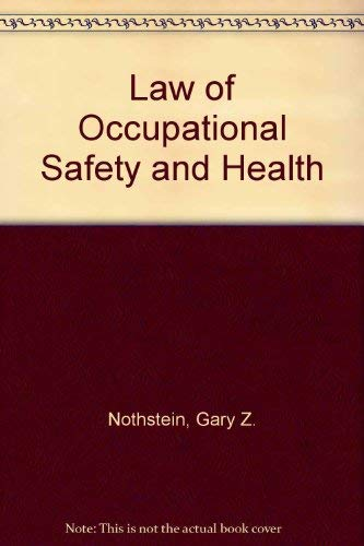 9780029231104: Law of Occupational Safety and Health