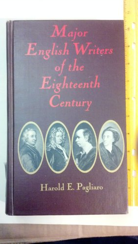 9780029235607: Major English Writers of the Eighteenth Century