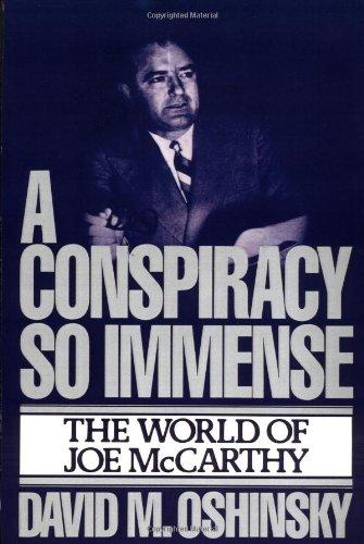9780029237601: A Conspiracy So Immense
