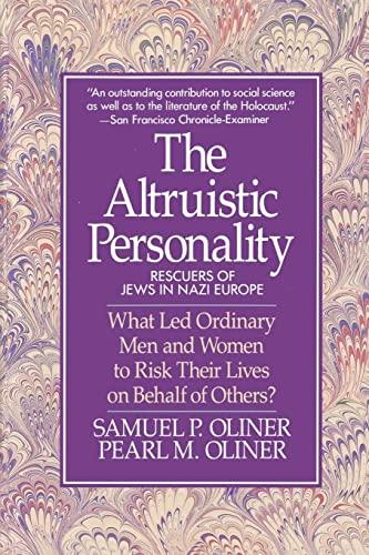 9780029238295: Altruistic Personality: Rescuers Of Jews In Nazi Europe