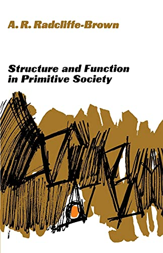 9780029256206: Structure and Function in Primitive Society