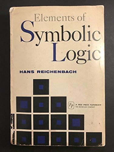 9780029262504: Elements of Symbolic Logic