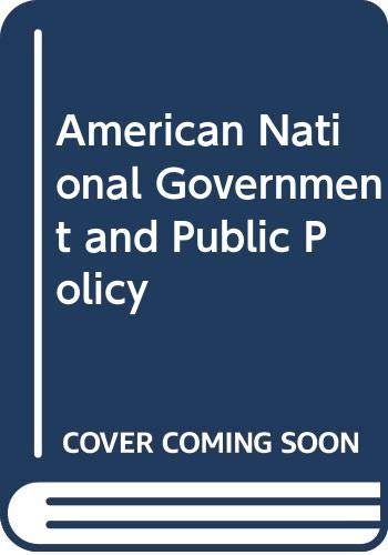 9780029265406: American National Government and Public Policy