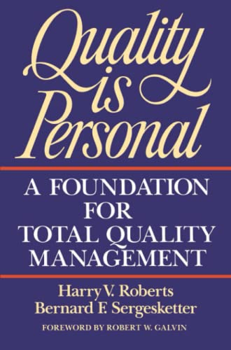 9780029266250: Quality Is Personal: A Foundation For Total Quality Management