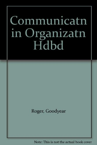 9780029267202: Communicatn in Organizatn Hdbd