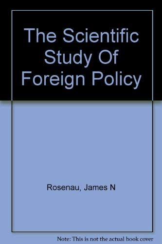 9780029270103: Scientific Study of Foreign Policy
