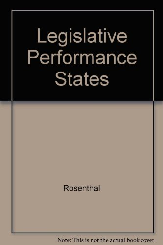 9780029273005: Legislative Performance in the States: Explorations of Committee Behavior