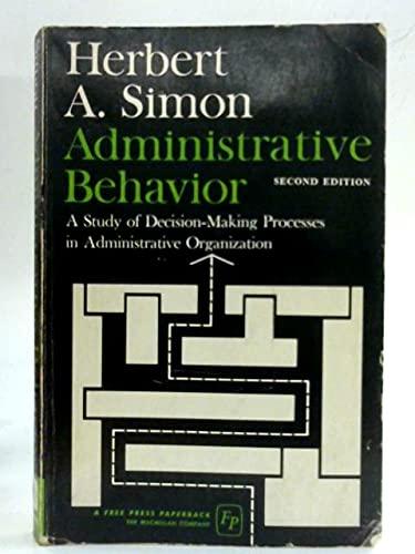9780029289303: Administrative Behavior