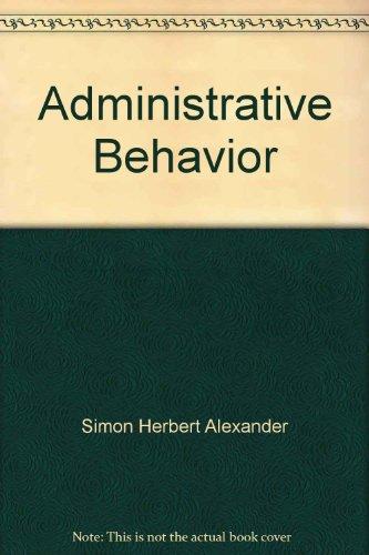 9780029289709: Administrative Behavior