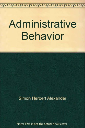 9780029289709: Administrative Behavior