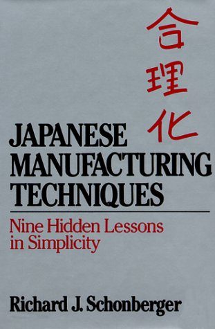 9780029291009: Japanese Manufacturing Techniques