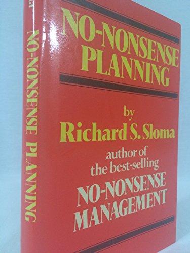 9780029295205: No-Nonsense Planning