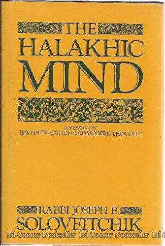 9780029300404: Halakhic Mind