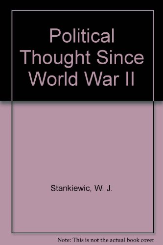 9780029306307: Political Thought Since World War II