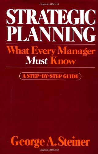 9780029311103: Strategic Planning