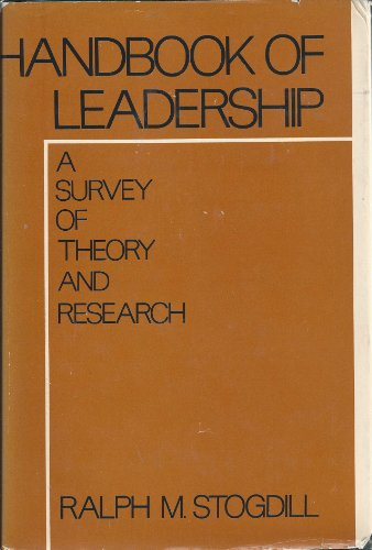 9780029316603: Handbook of Leadership: A Survey of Theory and Research