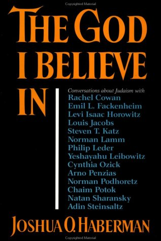 9780029317167: The God I Believe In: Conversations about Judaism