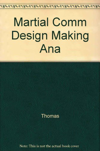 9780029324400: Marital Communication & Design Making (Analysis Assessment & Change)