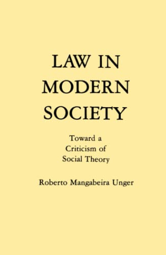 9780029328804: Law in Modern Society: Toward a Criticism of Social Theory
