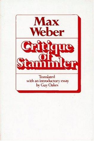 9780029341001: Critique of Stammler