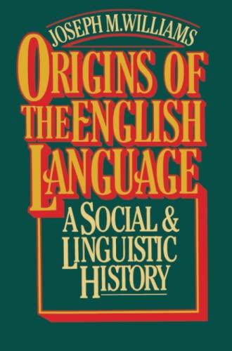 9780029344705: Origins of the English Language