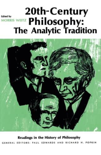 9780029349908: Twentieth-Century Philosophy: The Analytic Tradition (Readings in the History of Philosophy)