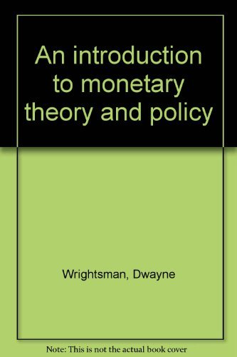 9780029355107: An introduction to monetary theory and policy