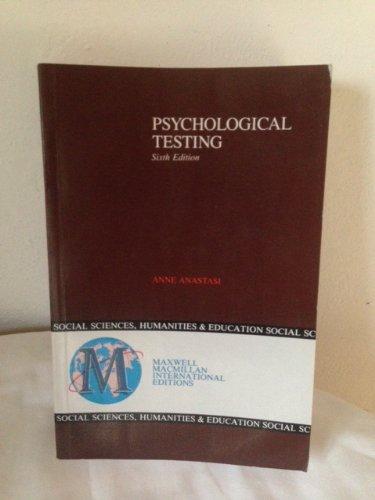 9780029460009: Psychological Testing