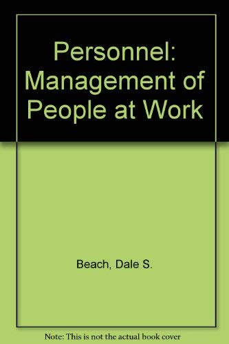 9780029460108: Personnel: Management of People at Work