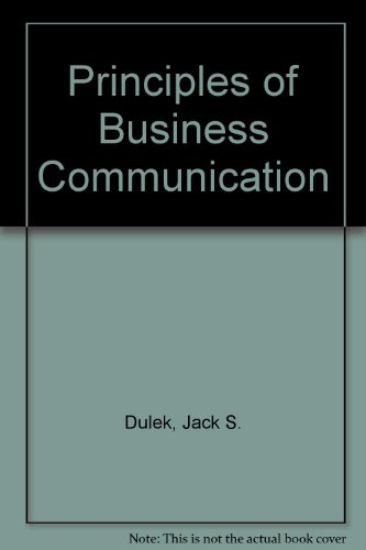 9780029461082: Principles of Business Communication