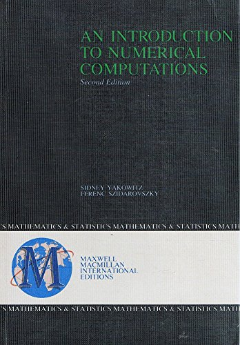 9780029461372: An Introduction to Numerical Computations