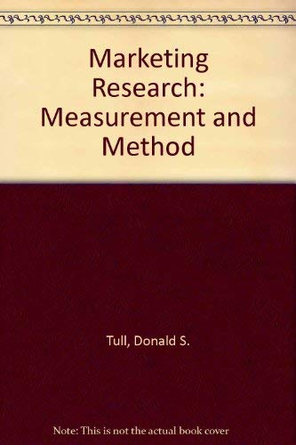 9780029461839: Marketing Research: Measurement and Method
