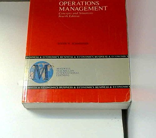 9780029462034: Production/Operations Management: Concepts and Situations