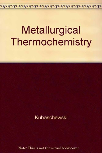 9780029462126: Metallurgical Thermochemistry