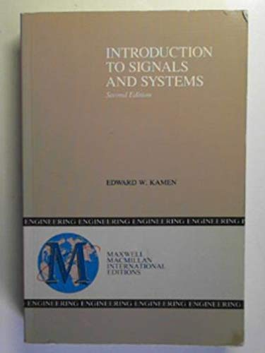 9780029462294: Introduction to Signals and Systems