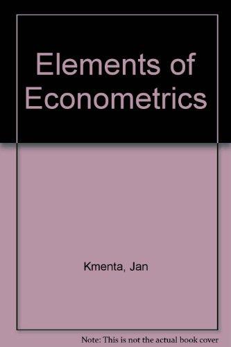 9780029462522: Elements of Econometrics