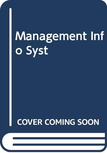 9780029462560: Management Info Syst
