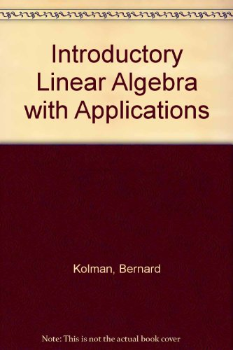 9780029462638: Introductory Linear Algebra with Applications