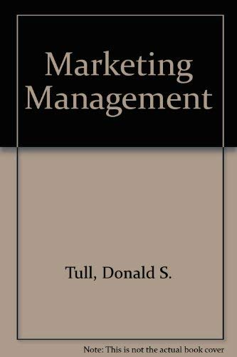 9780029462782: Marketing Management