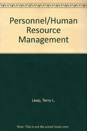 9780029462898: Personnel/Human Resource Management