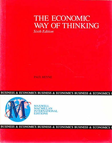 9780029463215: The Economic Way of Thinking (Maxwell Macmillan International Editions)