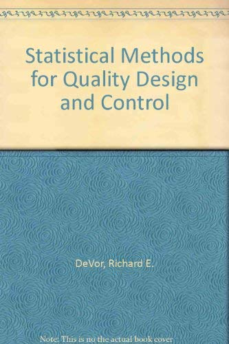 9780029463567: Statistical Methods for Quality Design and Control